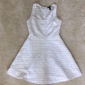 Aqua fit and flare cotton dress